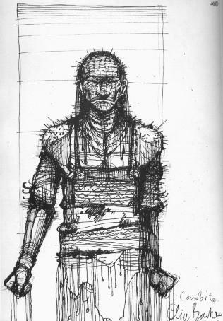 Drawn pinhead white Pinhead Revelations The Clive Barker