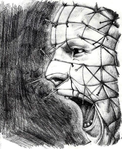 Drawn pinhead AKA Barker's Bowels Clive pinhead