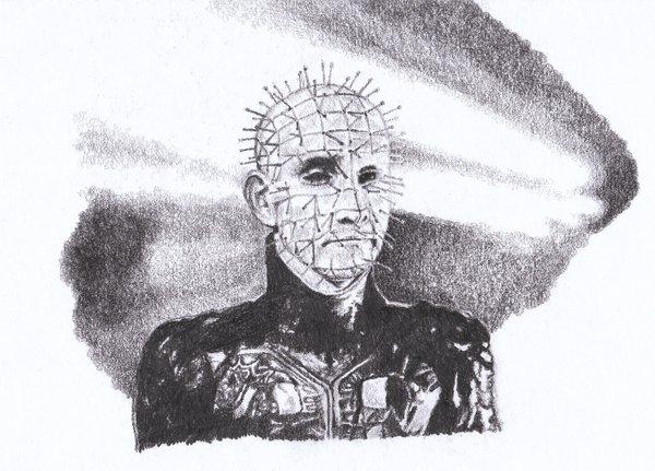 Drawn pinhead By on GabrielGrob Pinhead from