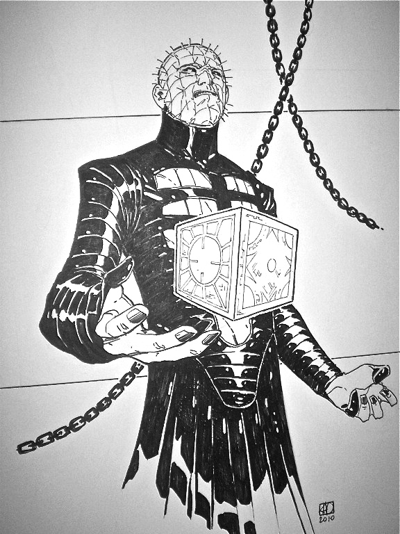 Drawn pinhead bulletin Pinhead Hellbound Art Comic Horror