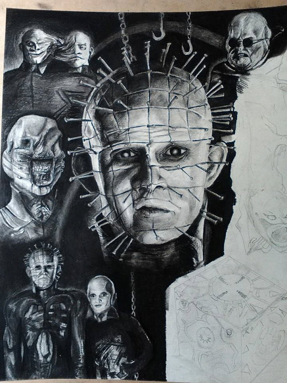 Drawn pinhead dropped Pinhead ◅ Drawing 11x17'' Hellraiser