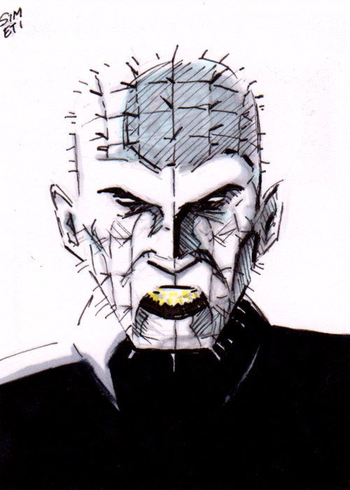 Drawn pinhead dropped Artwork best card images sketch