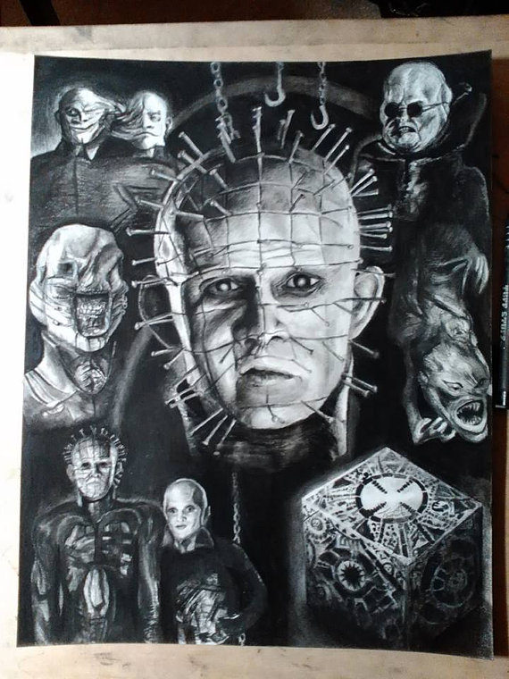 Drawn pinhead hellraiser 11x17'' Pinhead Drawing Hellraiser Hellraiser