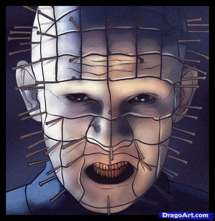 Drawn pinhead hellraiser To FREE pinhead Step draw