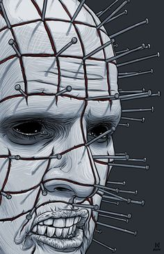 Drawn pinhead hellraiser On and tumblr Pin Hellraiser