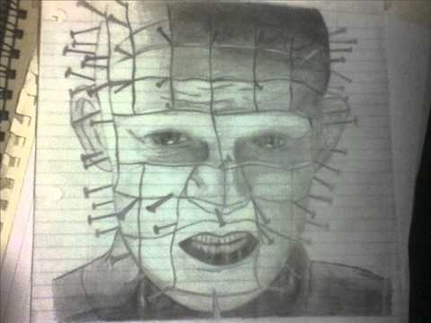 Drawn pinhead hellraiser Drawing Pinhead Drawing YouTube Hellraiser