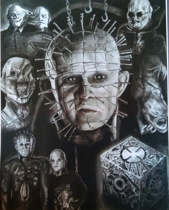 Drawn pinhead hellraiser By on Tony drawing by