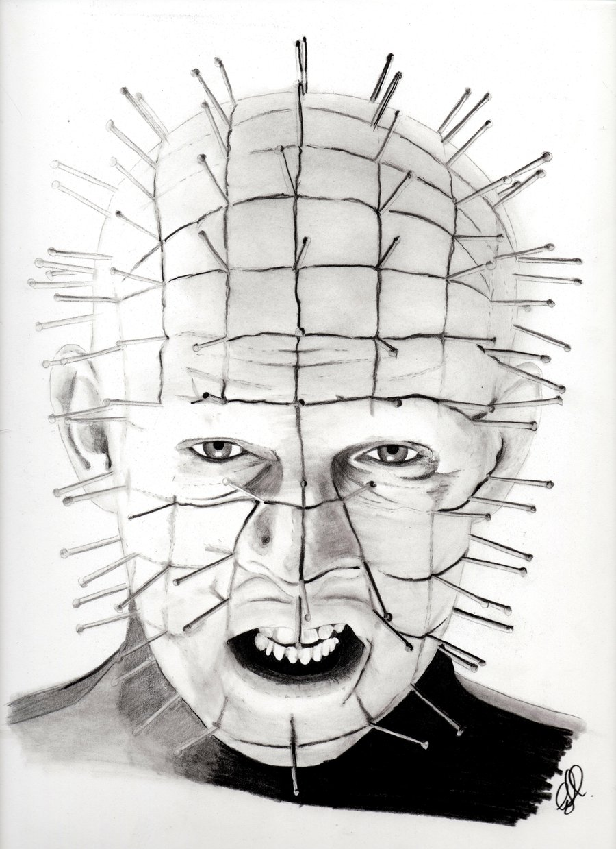 Drawn pinhead hellraiser Sketch classic Pinhead sketch Horror