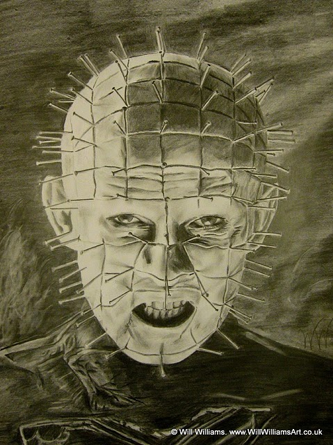 Drawn pinhead hellraiser Pinhead sketch WillWilliamsArt portrait /