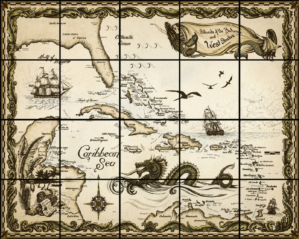 Drawn pirate antique On Maps about MapsVintage 277