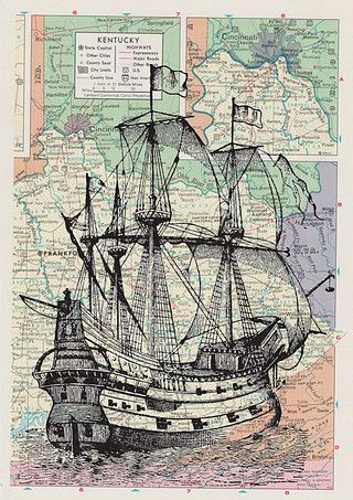 Drawn pirate antique Map Pirate Ship Pinterest 202