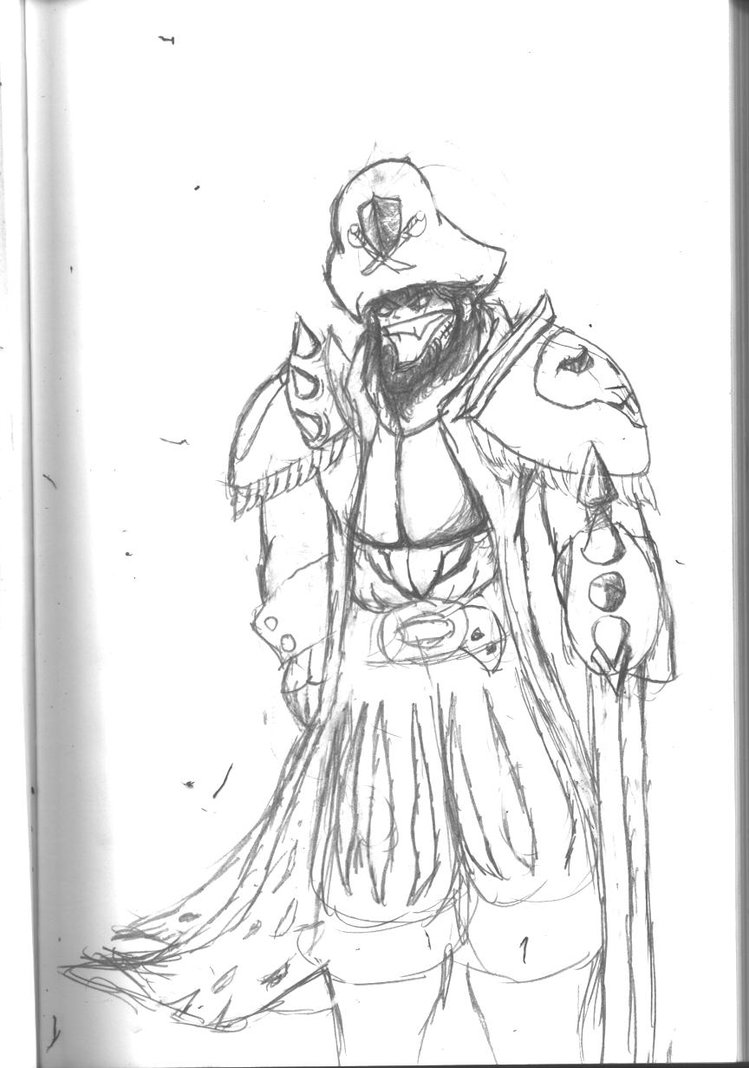 Drawn pirate armored J3V1L Armored Captain Pirate by