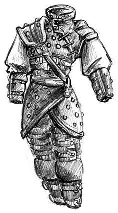 Drawn pirate armored  more Armor/drawing Find studded