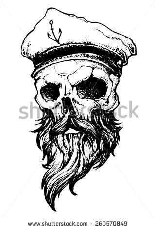Drawn beard skull New newschool Pesquisa school Pesquisa