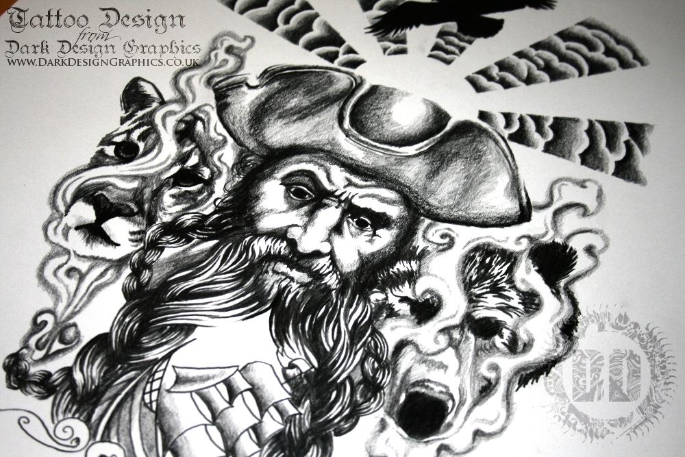 Drawn pirate beard Pirate  Design Tattoo Design