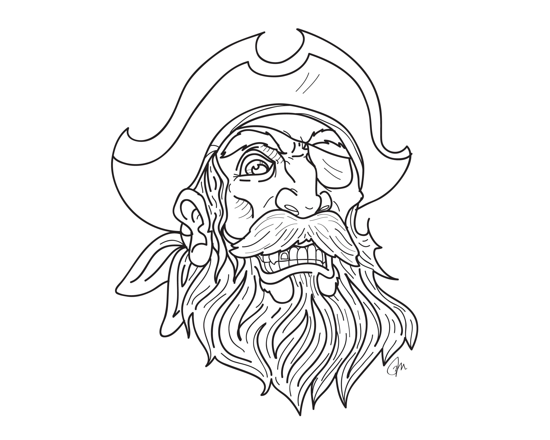 Drawn pirate beard And best eye about beard
