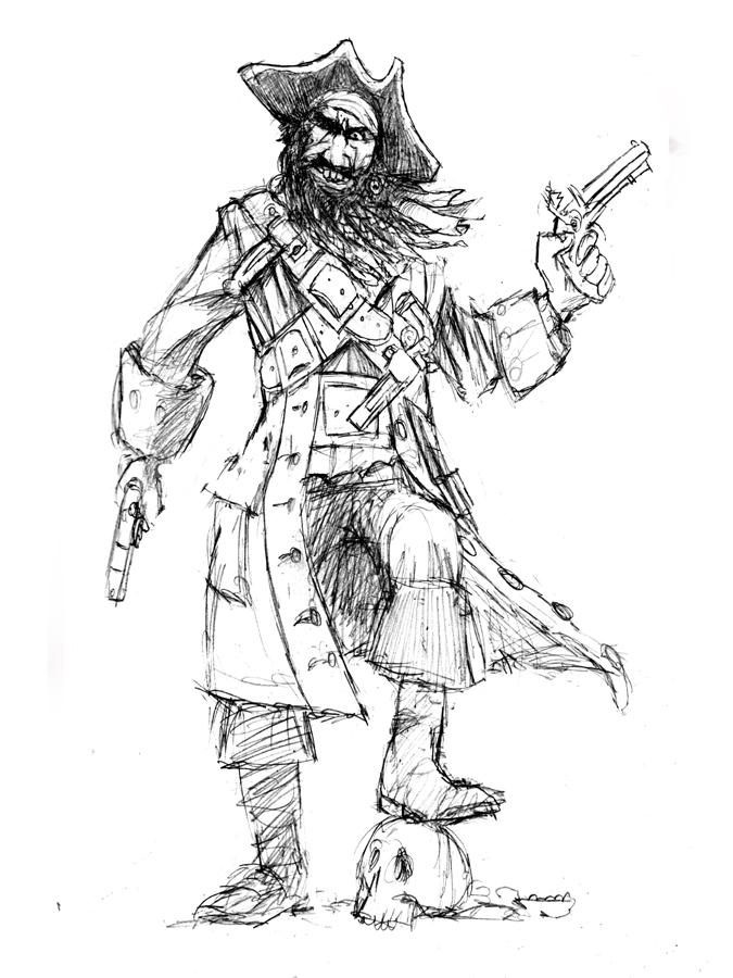 Drawn pirate blackbeard It Rich can cool but