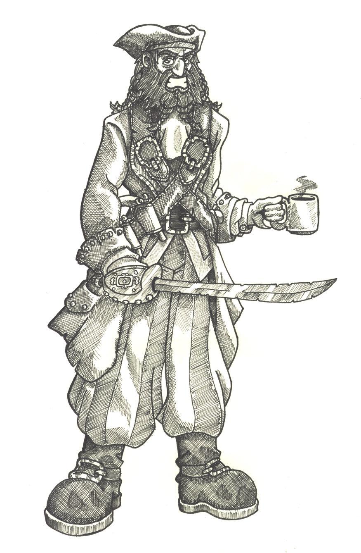 Drawn pirate blackbeard Saolias by Black Black on