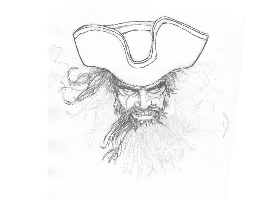 Drawn pirate blackbeard More – Blackbeard Illustration Powell
