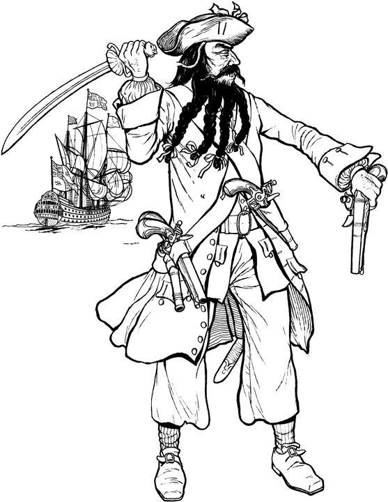 Drawn pirate blackbeard  Maritime Blackbeard Privateers: &