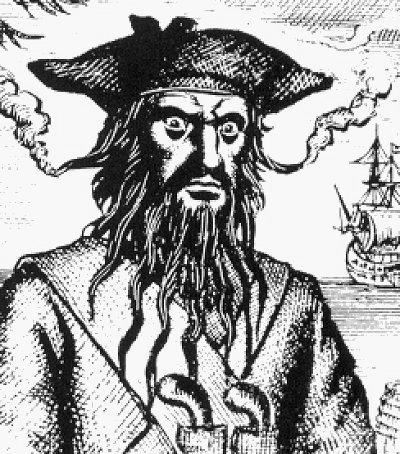 Drawn pirate blackbeard History pirates Famous Famous famous