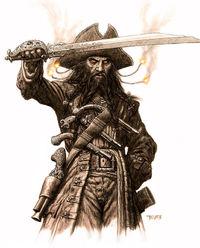Drawn pirate blackbeard Notorious Geocache Edward GC5YG7P Most