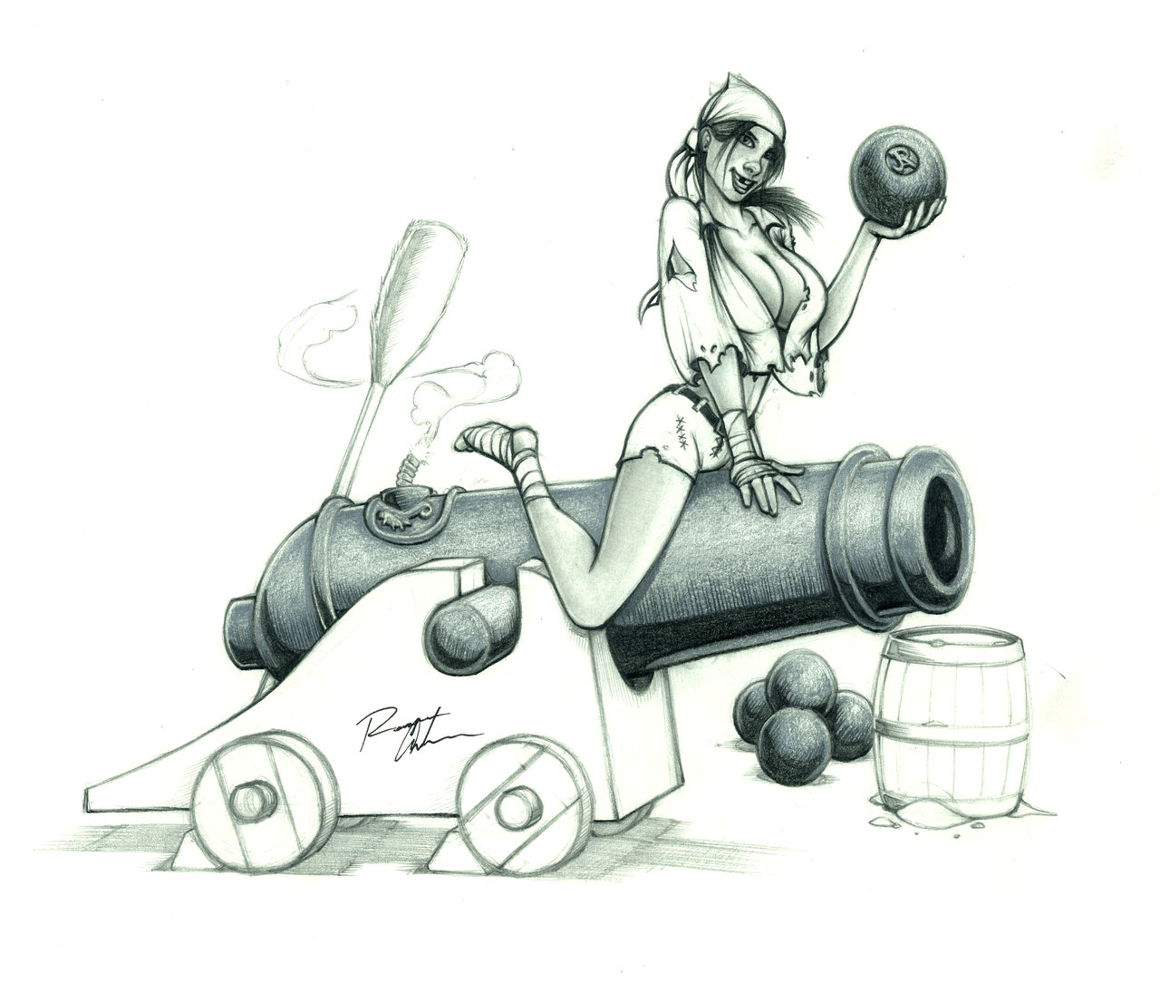Drawn pirate cannon By by JREAGANA Pirate Cannons