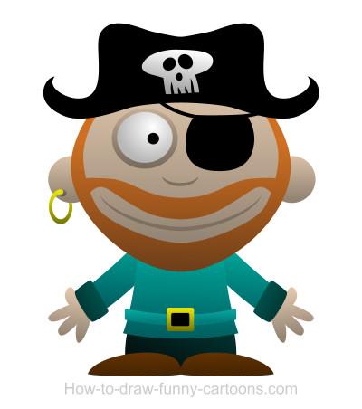 Drawn pirate cartoon Cartoon cartoon a pirate Drawing