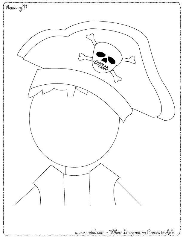 Drawn pirate child Images best Pirate! child's CreKid