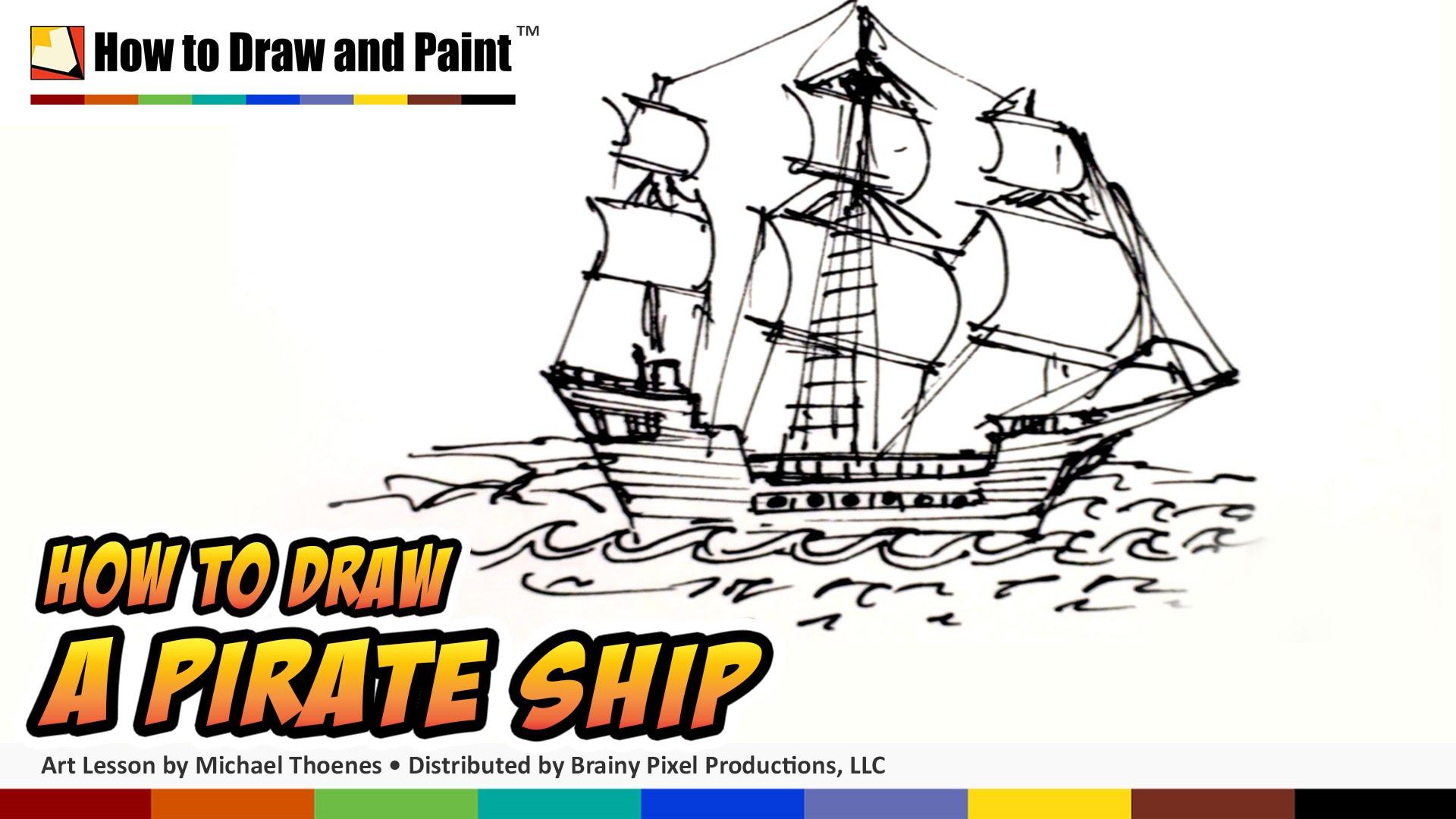 Drawn pirate classic Ship Draw a Kids Pirate