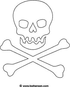 Drawn pirate color Flag print this to Coloring