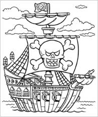 Drawn pirate color 2nd for 2nd things graders