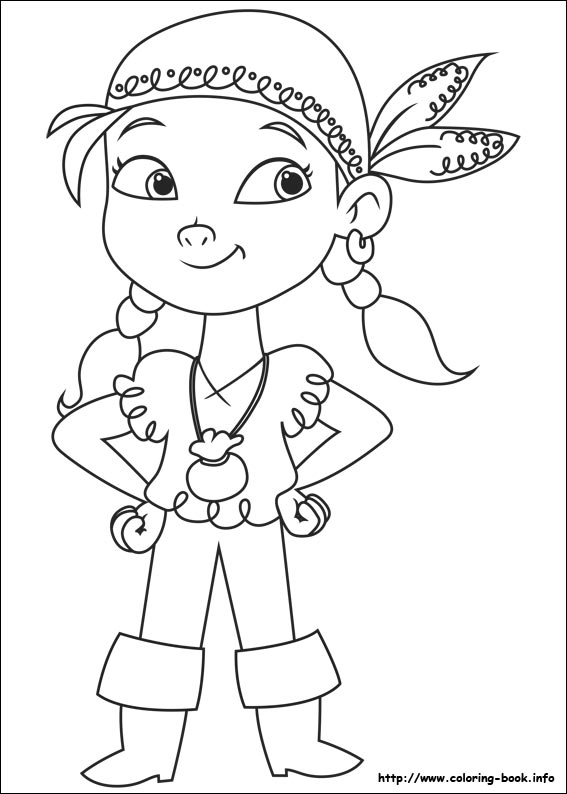 Drawn pirate coloring book Never coloring Never Pirates the