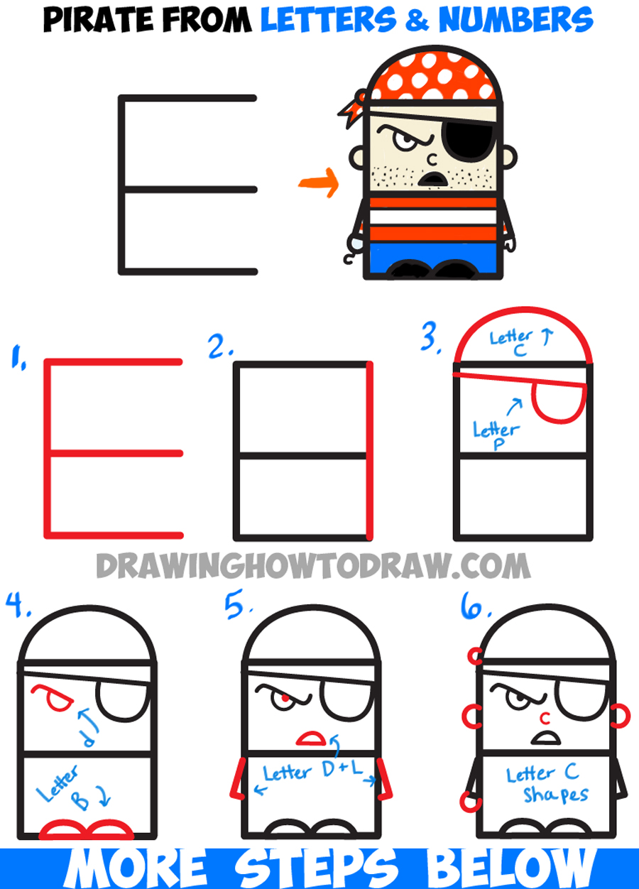Drawn pirate comic Tutorial Cartoon Pirate How from