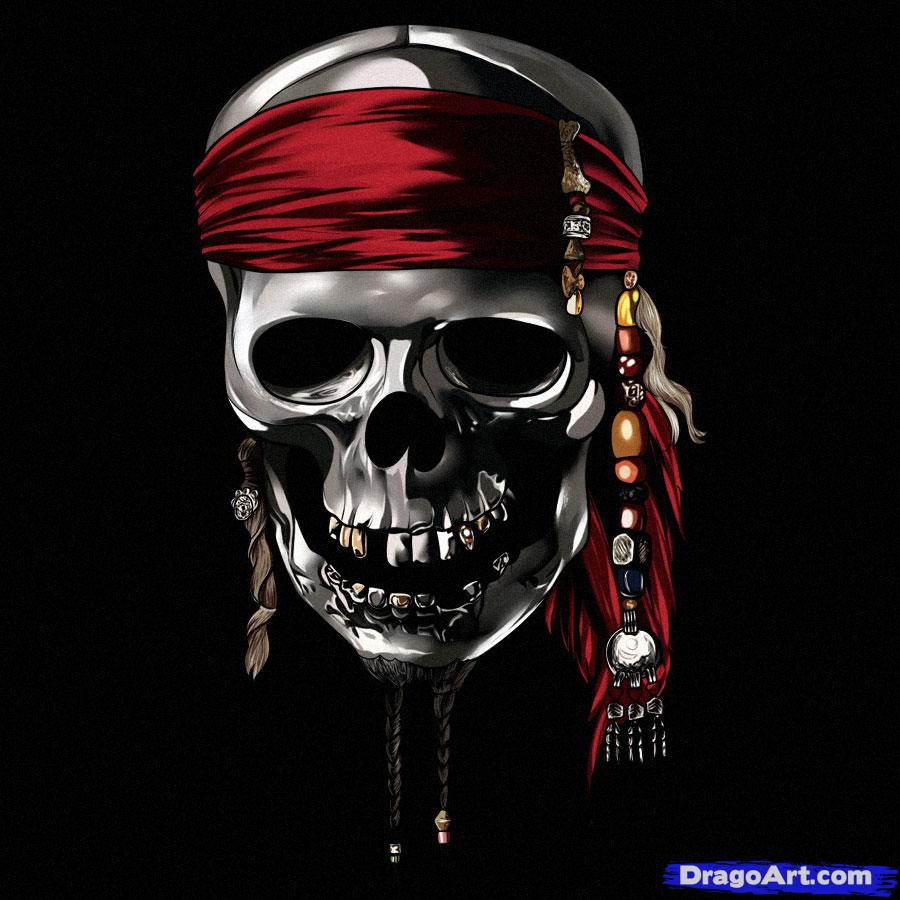 Pirates Of The Caribbean clipart pirate skeleton #3