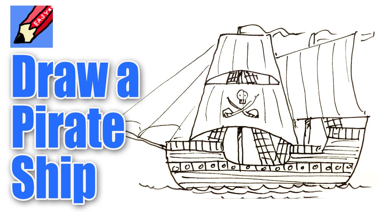 Drawn pirate easy Pirate draw Easy How Ship