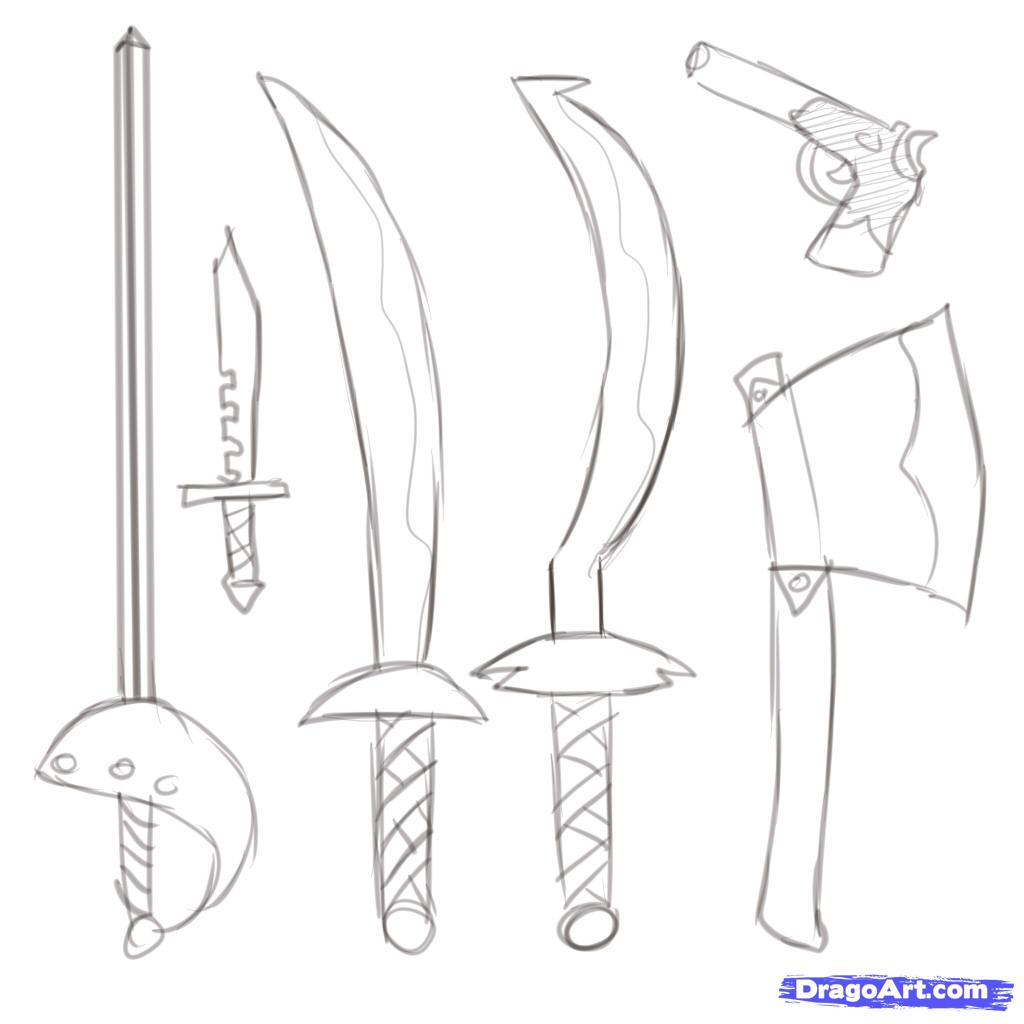 Drawn dagger pirate By Step How  pirates