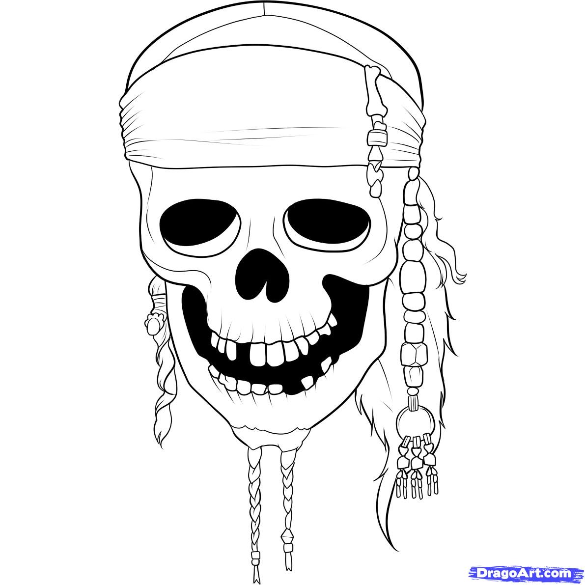 Drawn pirate easy Of Draw skull How the