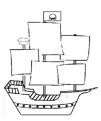 Drawn pirate easy 3 Draw ships a Pinterest