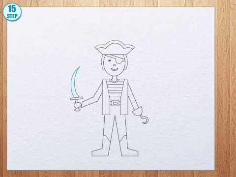 Drawn pirate easy YouTube you you pirate draw