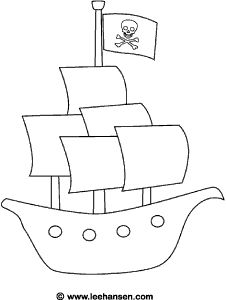 Drawn pirate easy Pinterest coloring ship Best sheet