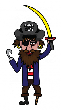 Drawn pirate easy By Draw Tutorial a Step