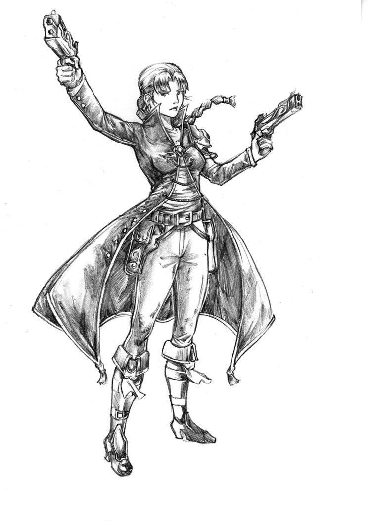 Drawn pirate female pirate Girl Info Pirate EKelric by