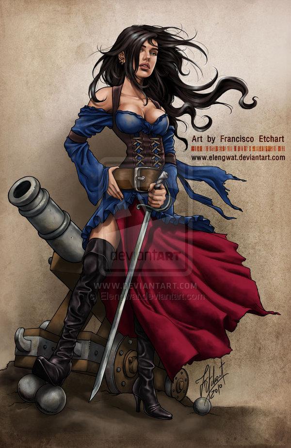 Drawn pirate female pirate @deviantART III on deviantart Elengwat