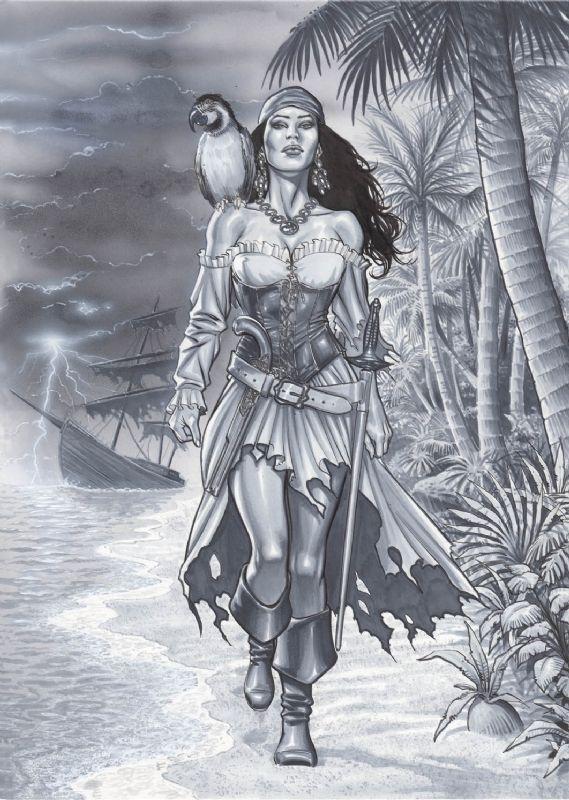Drawn pirate female pirate Pirate Pinterest ideas tattoos Pirate