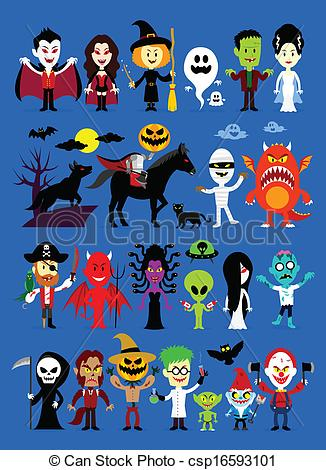 Zombie clipart halloween monster Devil Pirate his Witch Monster