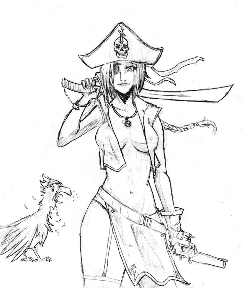 Drawn pirate lady pirate Pirate pirates Female by ryken