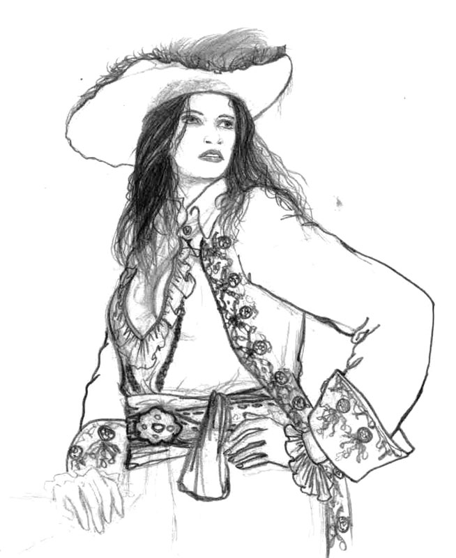 Drawn pirate lady pirate By Lady theLadyBarbossa Pirate on