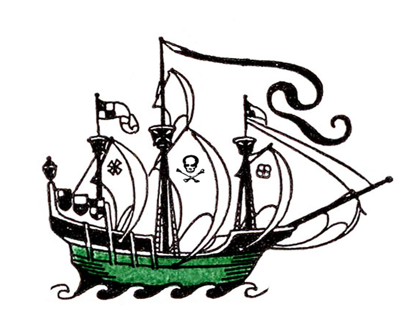 Sailing Ship clipart pirate the caribbean About Pinterest drawings on Possibles