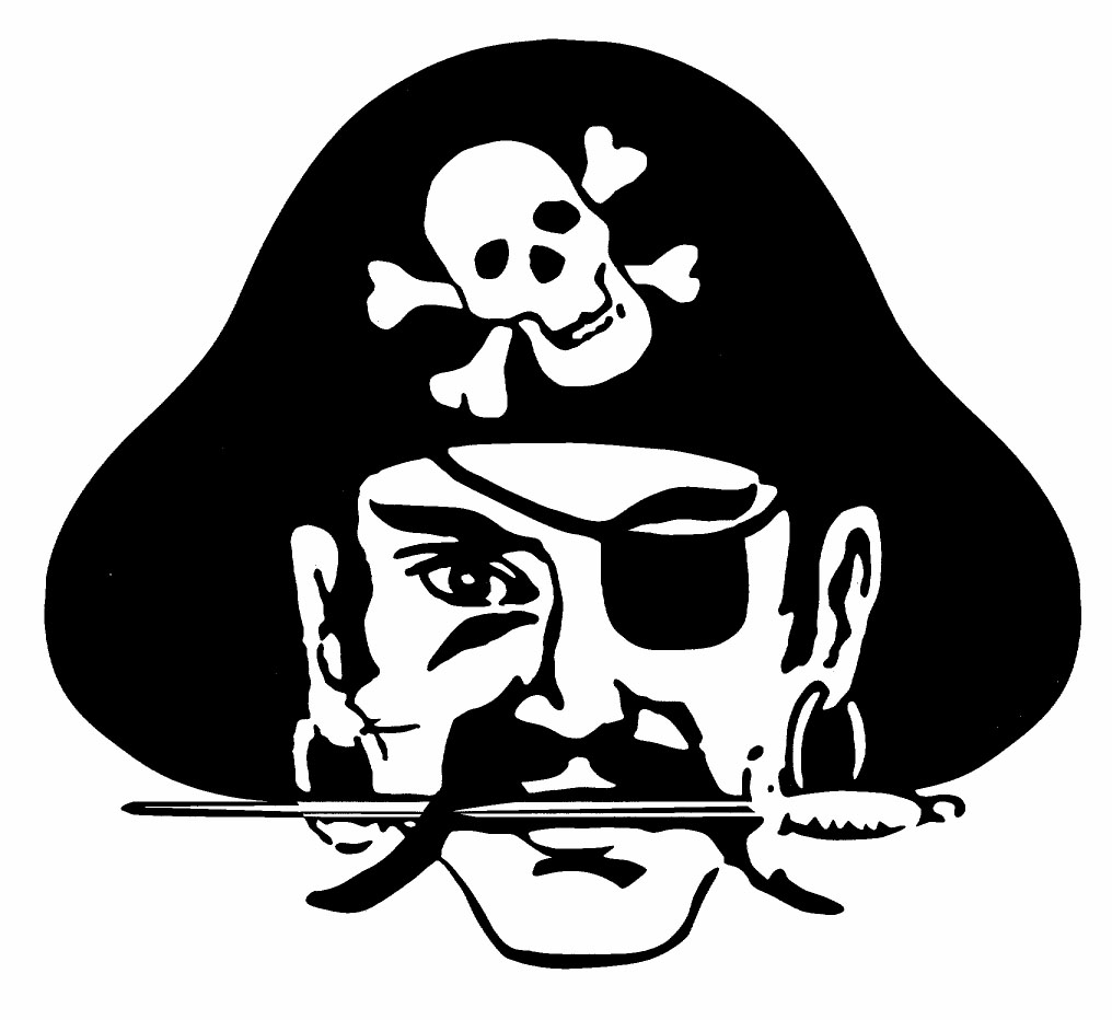 Pirates Of The Caribbean clipart symbol Du? (School Go Husker mascot)